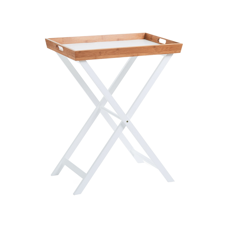 Tavolino Con Vassoio.Dettagli Su Tavolo Richiudibile Con Vassoio In Bamboo E Mdf Zeller