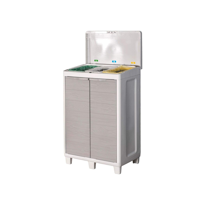 Raccolta Differenziata Bidoni Ikea dettagli su mobile armadio woody s raccolta differenziata grigio  chiaro/tortora toomax