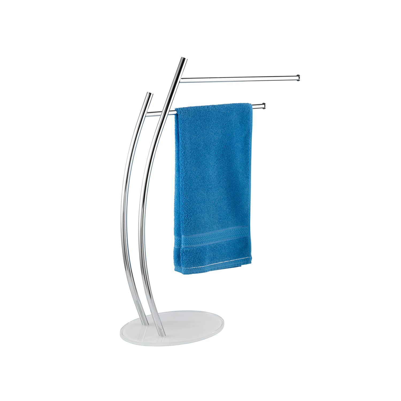 Wenko piantana porta asciugamani a 2 bracci ascea serie accessori bagno ebay - Piantana bagno porta asciugamani ...