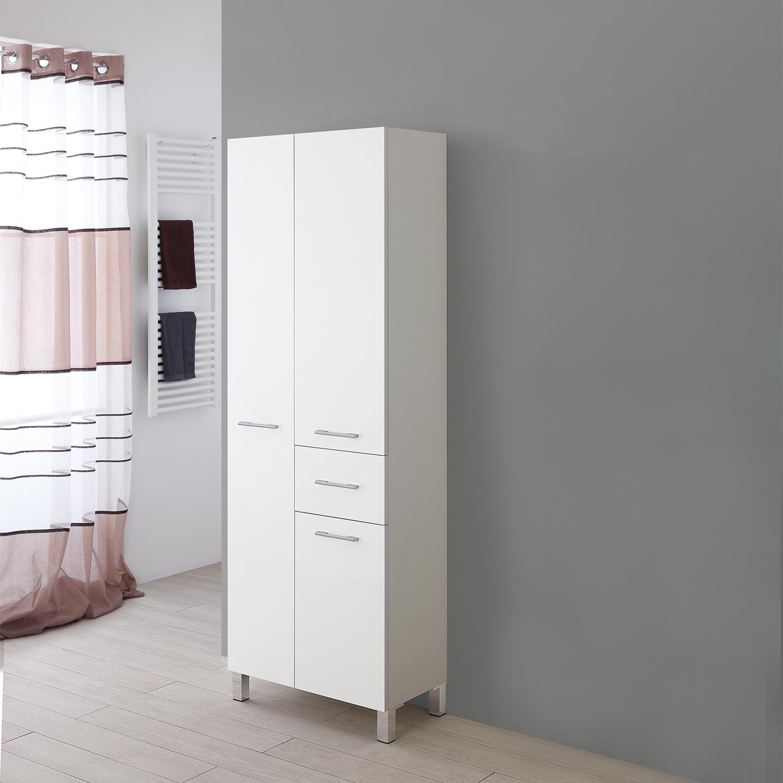 Feridras mobile colonna doppia porta asciugamani 60cm arredo bagno in legno ebay - Mobile porta asciugamani ...