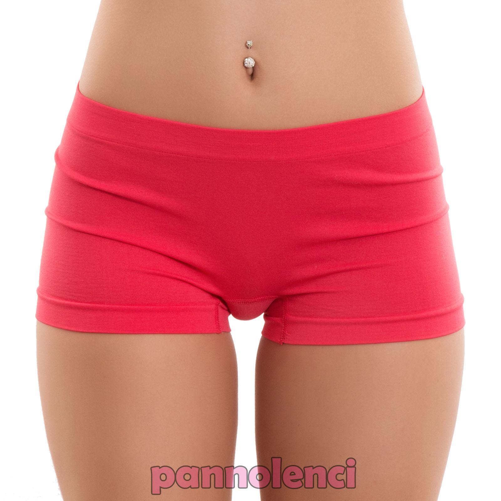 Pantaloncini donna culotte shorts intimo fitness sport hot pant nuovi YQ3308